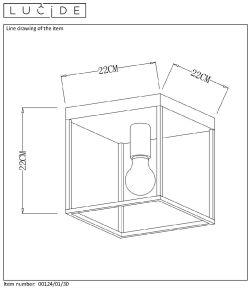 Lampa sufitowa RUBEN - 00124/01/30