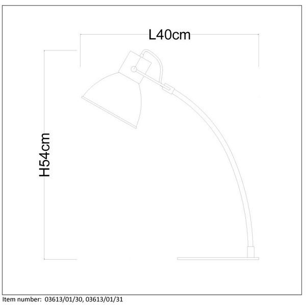 Lampka biurkowa CURF - 03613/01/30