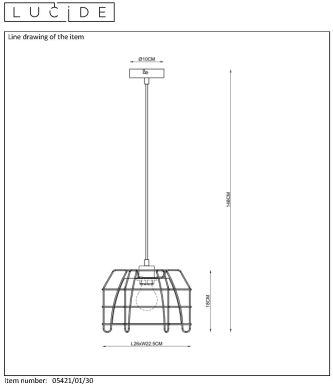 Lampa wisząca GRID - 05421/01/30