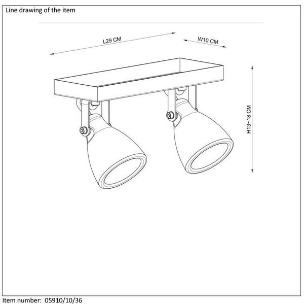 Lampa sufitowa CONCRI-LED - 05910/10/36