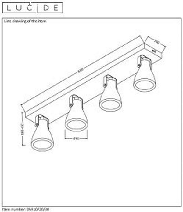 Lampa sufitowa CONCRI-LED - 05910/20/30