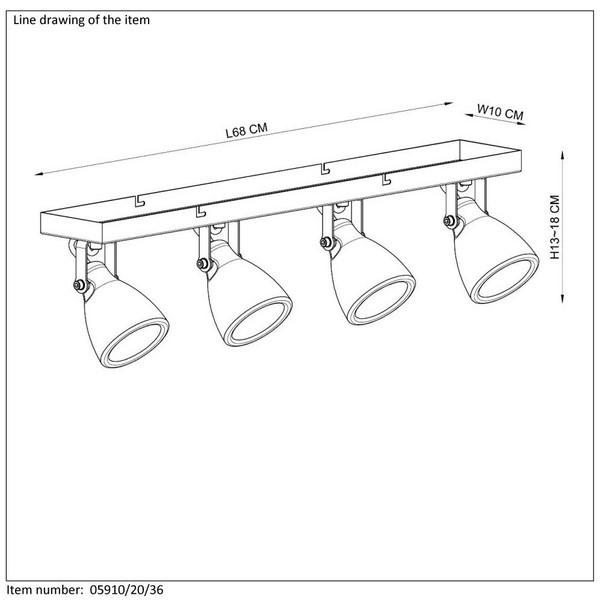 Lampa sufitowa CONCRI-LED - 05910/20/36