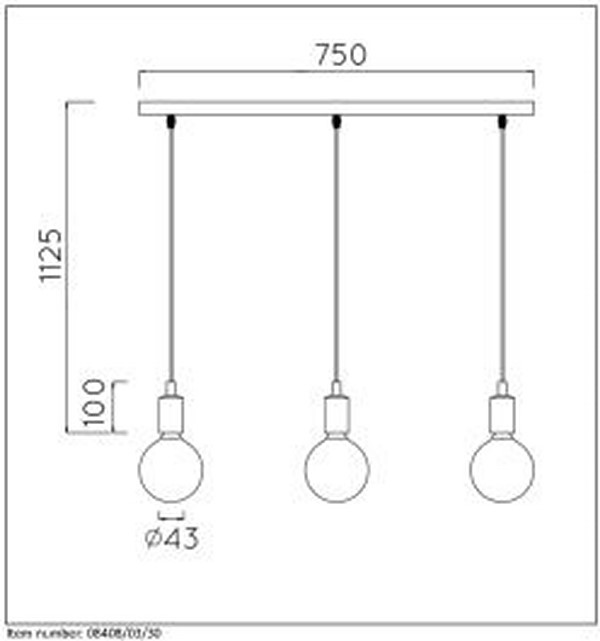 Lampa wisząca FIX MULTIPLE - 08408/03/30