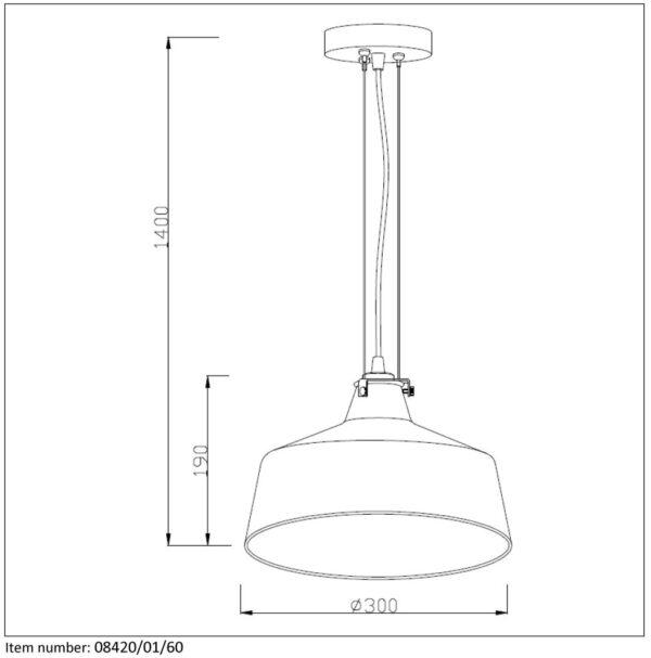 Lampa wisząca VITRI - 08420/01/60