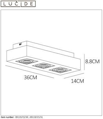 Lampa sufitowa XIRAX - 09119/16/30