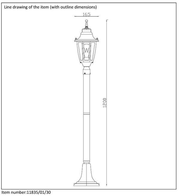 Lampa zewnętrzna TIRENO - 11835/01/30