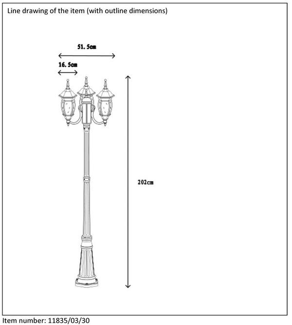 Lampa zewnętrzna TIRENO - 11835/03/30