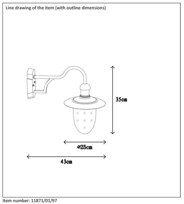 Lampa ścienna ARUBA - 11871/01/97