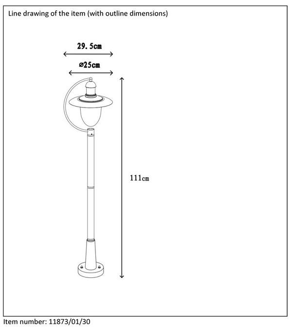 Lampa zewnętrzna ARUBA - 11873/01/30