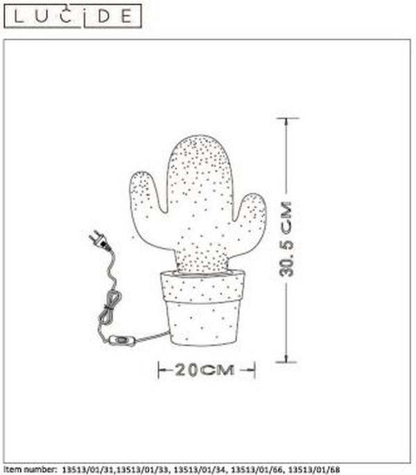Lampa stołowa CACTUS - 13513/01/66
