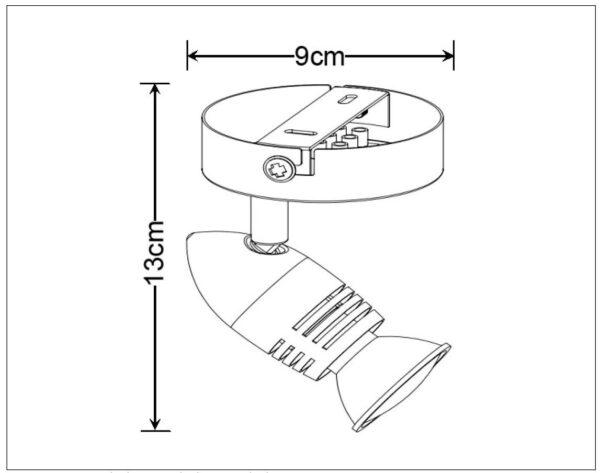 Lampa ścienna CARO-LED - 13955/05/31