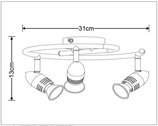 Lampa sufitowa CARO-LED - 13955/14/03