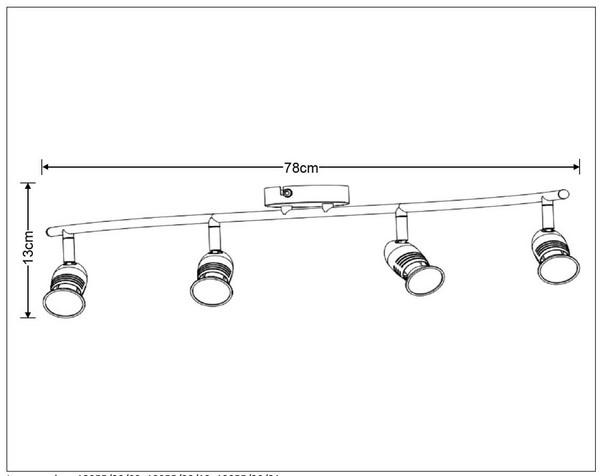 Lampa sufitowa CARO-LED - 13955/20/12