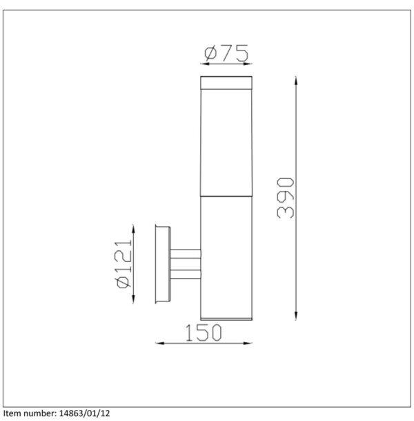 Lampa ścienna KIBO - 14863/01/12