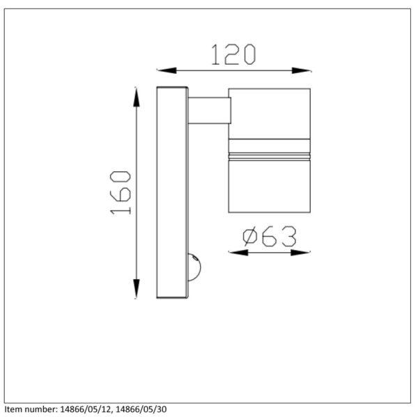 Lampa ścienna ARNE-LED - 14866/05/30