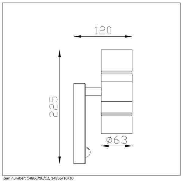 Lampa ścienna ARNE-LED - 14866/10/30