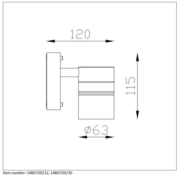 Lampa ścienna ARNE-LED - 14867/05/12