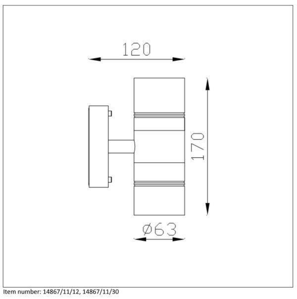Lampa ścienna ARNE-LED - 14867/11/30