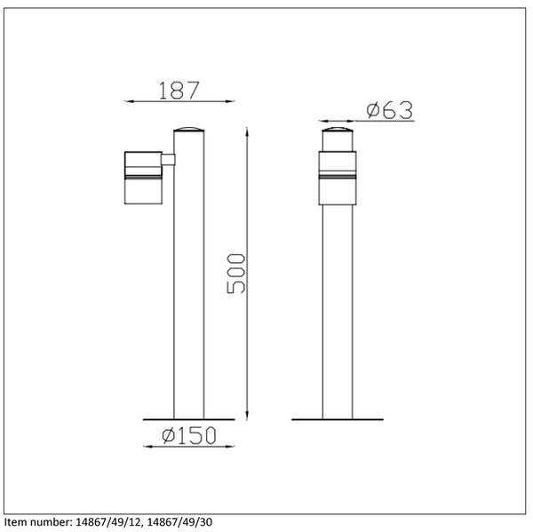 Lampa zewnętrzna ARNE-LED - 14867/49/30