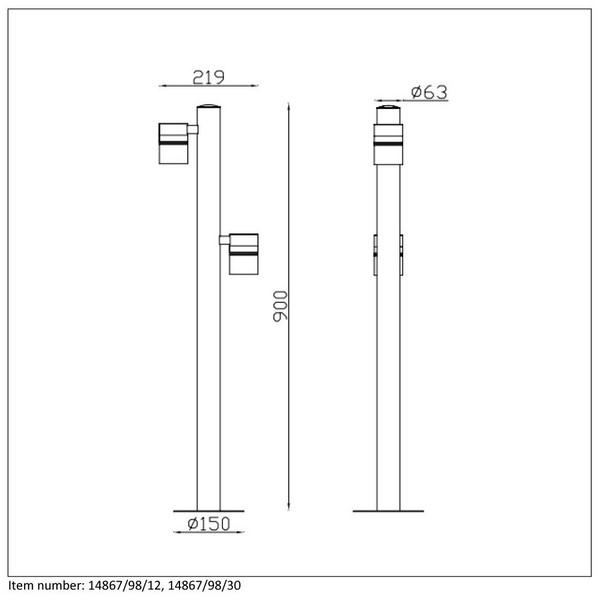 Lampa zewnętrzna ARNE-LED - 14867/98/30