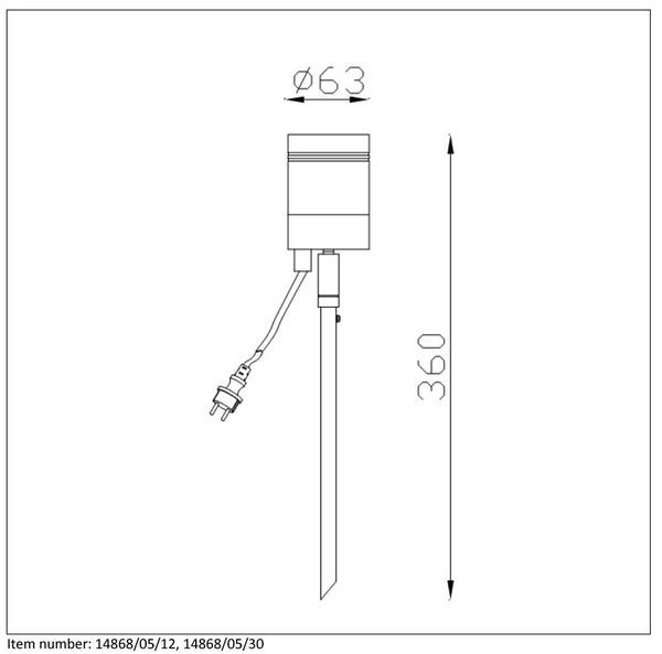 Lampa zewnętrzna ARNE-LED - 14868/05/12