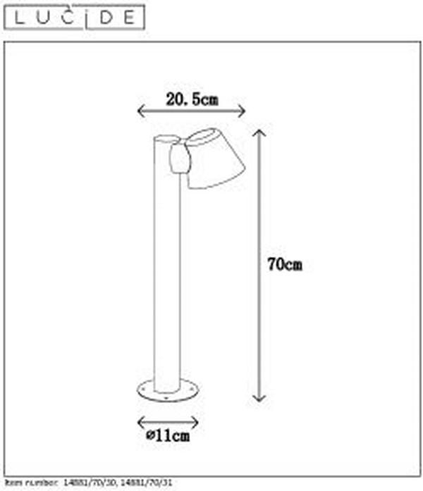 Lampa zewnętrzna DINGO LED - 14881/70/30