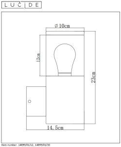 Lampa ścienna FEDOR - 14899/01/12