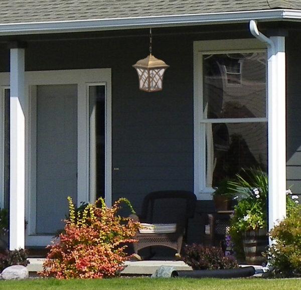 Ogrodowa lampa wisząca K-5180H - czarno-złoty