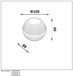 Lampa ścienna AYO - 17804/06/36