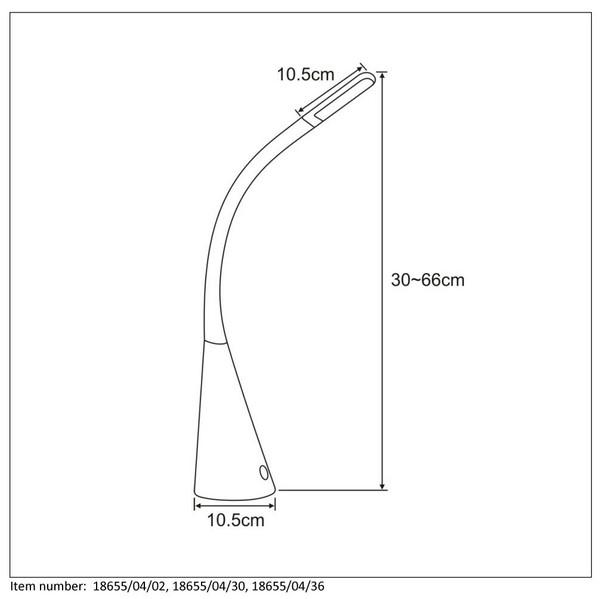 Lampka biurkowa GOOSY LED - 18655/04/36