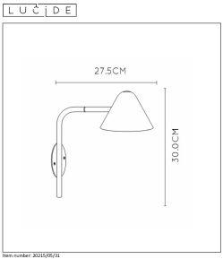 Lampa ścienna DEVON - 20215/05/31