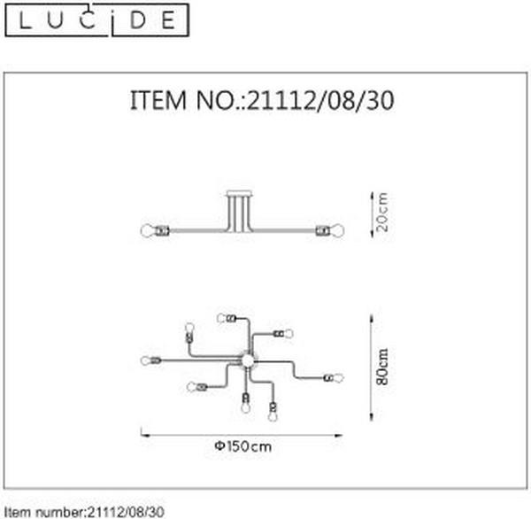 Lampa sufitowa LESTER - 21112/08/30