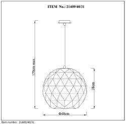 Lampa wisząca OTONA - 21409/40/31