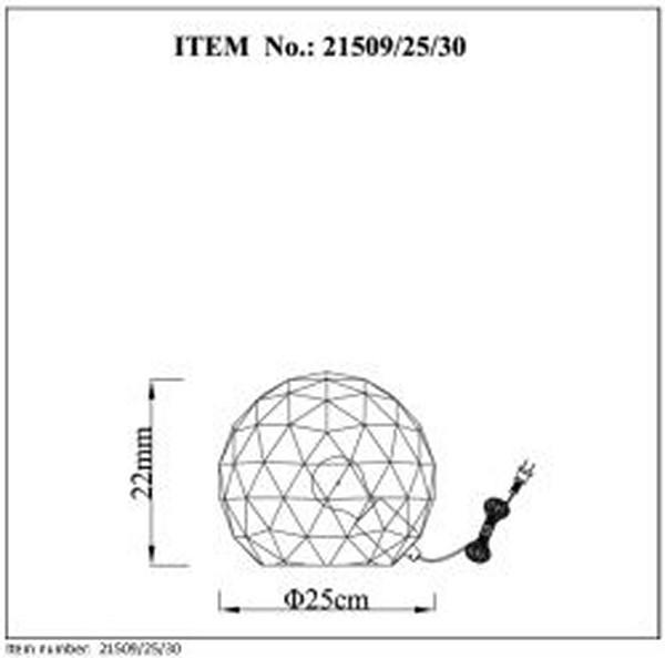 Lampa stołowa OTONA - 21509/25/30