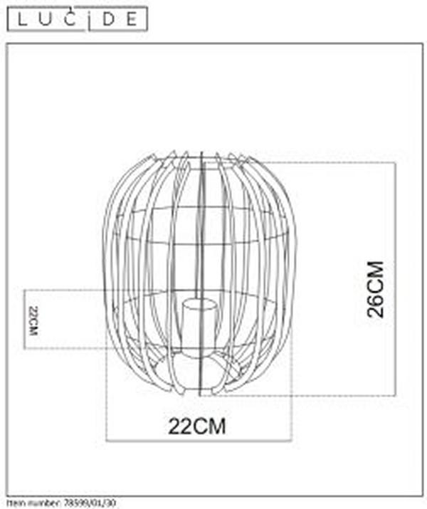Lampa stołowa REDA - 78599/01/30