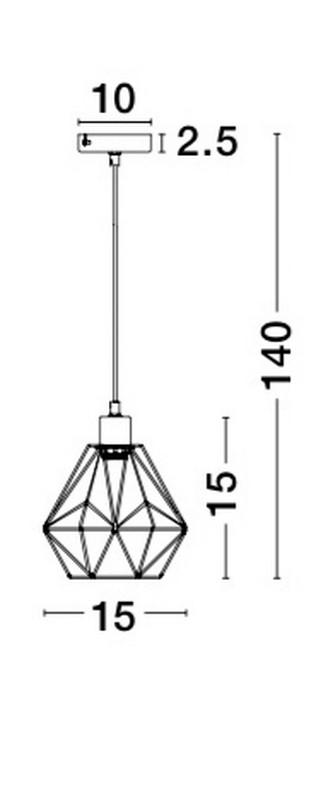 Lampa wisząca ISABELLA - 8801501