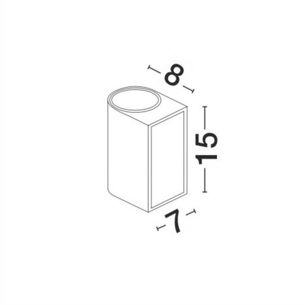 Lampa ścienna NERO - 910022
