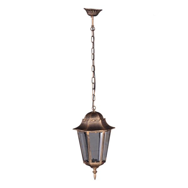 Ogrodowa lampa wisząca K-5006H - czarno-złoty
