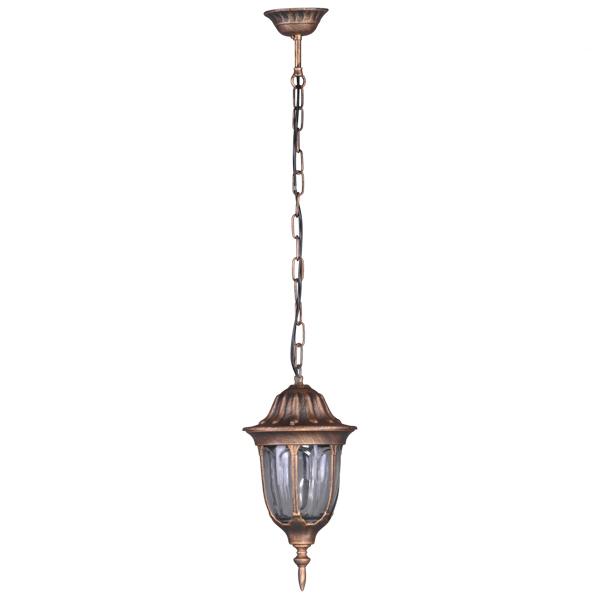 Ogrodowa lampa wisząca K-5007H/N z serii VASCO - czarno-złoty