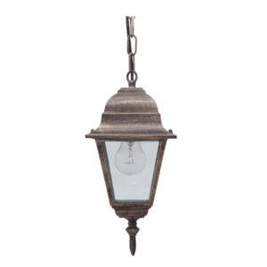 Ogrodowa lampa wisząca K-5019H/N - czarno-złoty