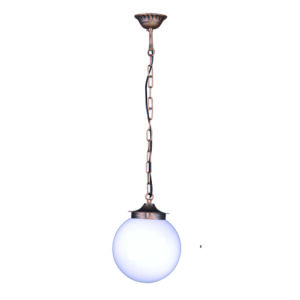 Ogrodowa lampa wisząca K-5035H - czarno-złoty