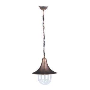 Ogrodowa lampa wisząca K-5038H z serii PARIS - czarno-złoty