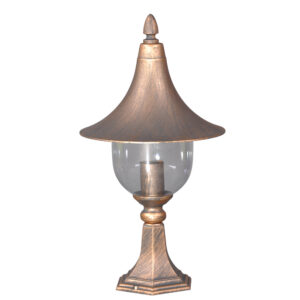 Lampa ogrodowa K-5038S z serii PARIS - czarno-złota