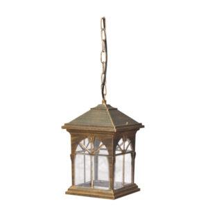 Ogrodowa lampa wisząca K-5156H - czarno-złoty