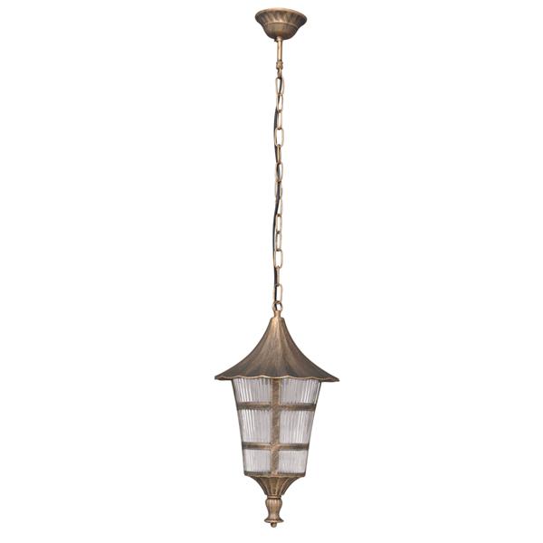 Ogrodowa lampa wisząca K-5179H - czarno-złoty