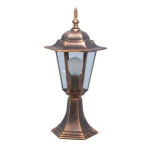 Lampa ogrodowa K-5009S z serii STANDARD - czarno-złoty