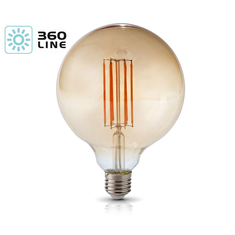 Żarówka LED E27 FG125 7W barwa CIEPŁOBIAŁA 360 Line - KAFG125E277C