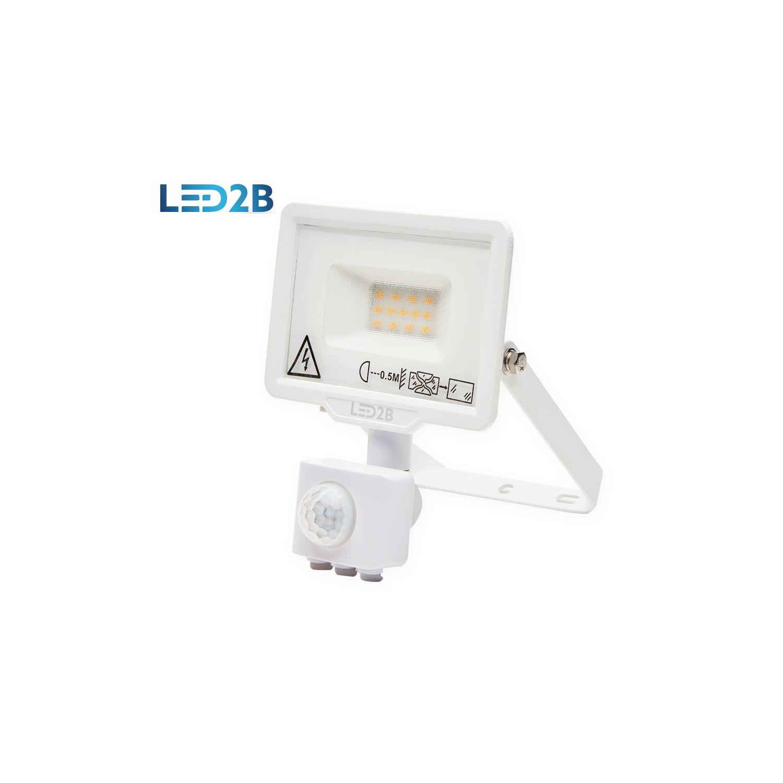 Oprawa LED MHC z czujnikiem 10W BIAŁA barwa CIEPŁOBIAŁA LED2B - KFLNLC10CBBI