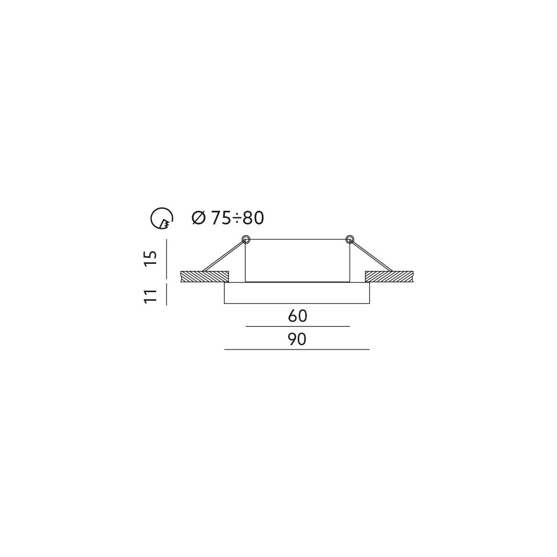 Pierścień ozdobny do opraw OH51 CZARNY - KPOH51CZ