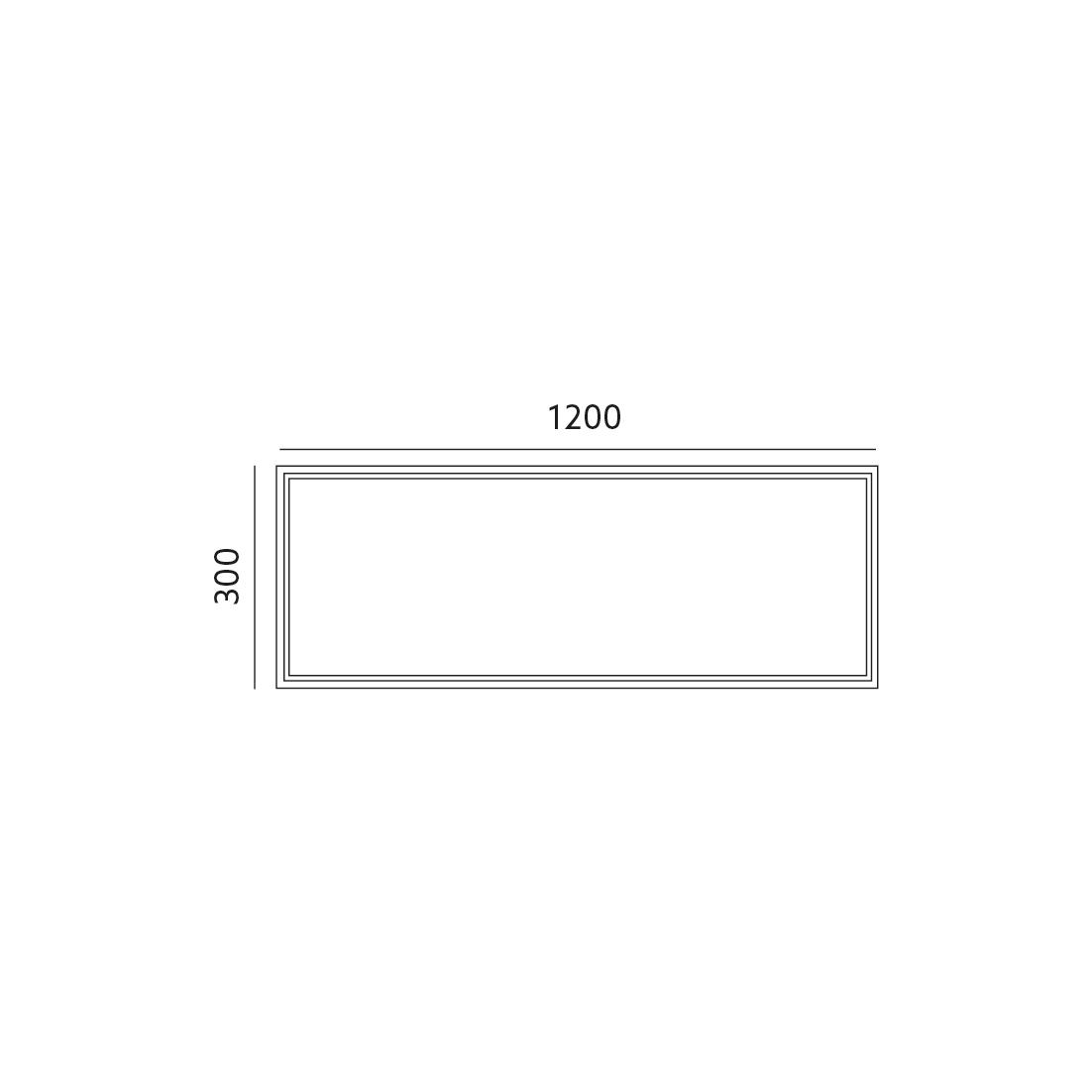 Ramka natynkowa do LED NELIO 30x120 - KFNORA30120
